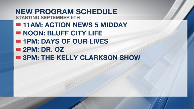 Programming change: New daytime lineup on Action News 5