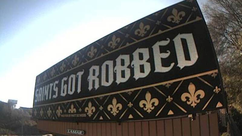 One Saints fan decided to take his frustrations out in the form of billboards in downtown...