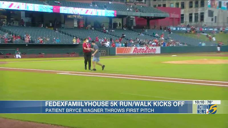 Le Bonheur patient throws first pitch at Redbirds game