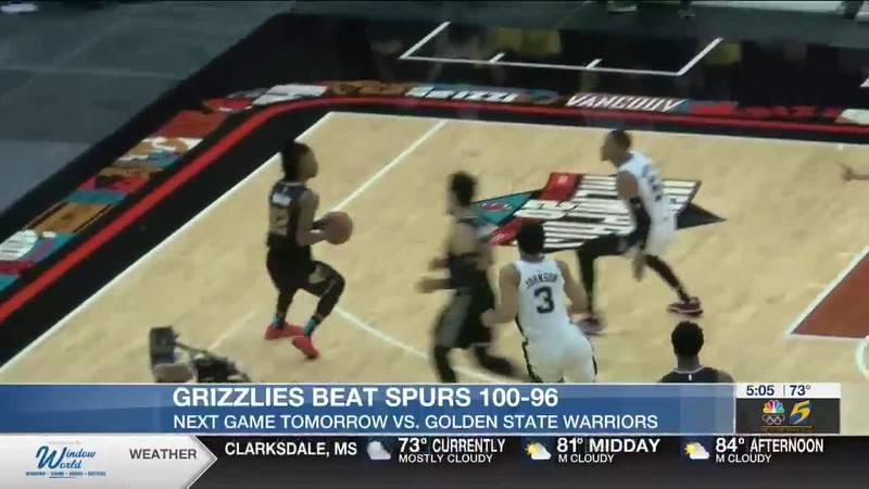 Grizzlies beat Spurs 100-96