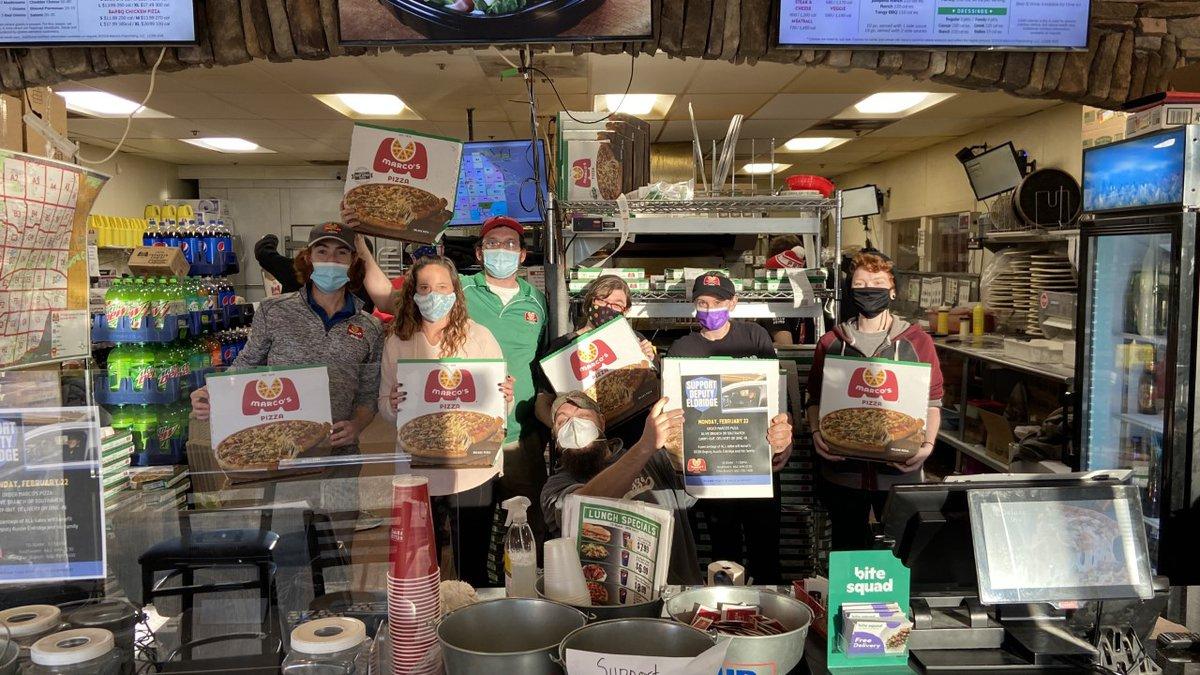 Marco's Pizza raises money for injured deputy