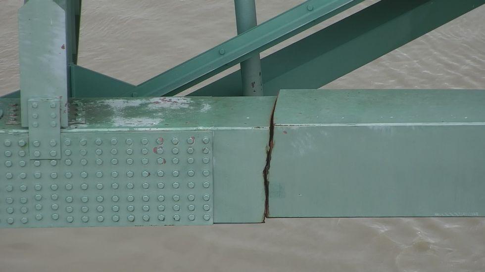 Crack in bridge