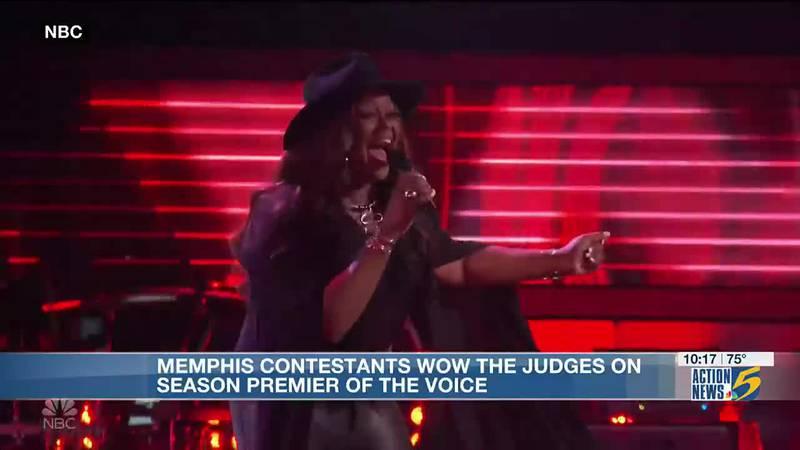 Memphis contestants wow judges on season premiere of 'The Voice'
