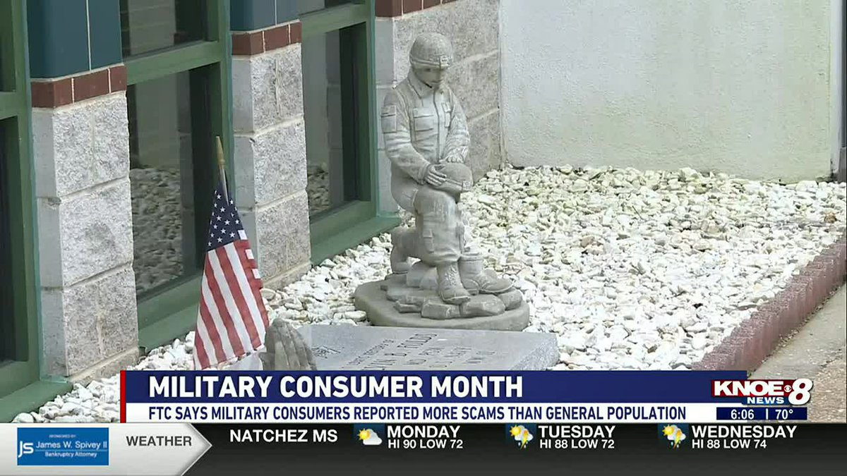 July is Military Consumer Month, and the Federal Trade Commission will be posting tips to keep...