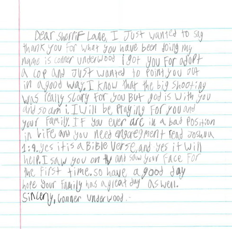 Boy pays special visit to Collierville police chief to pray and deliver letter