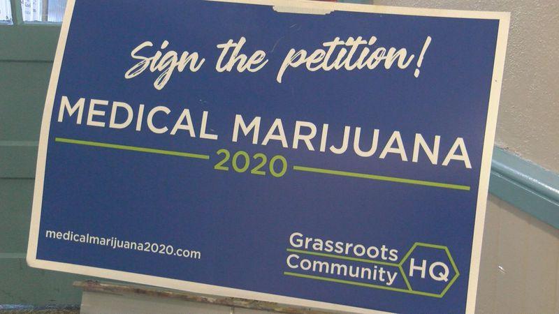 Petition signature drive to put medical marijuana on 2020 ballot