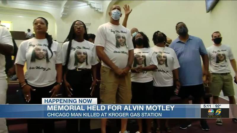 Alvin Motley rally and memorial