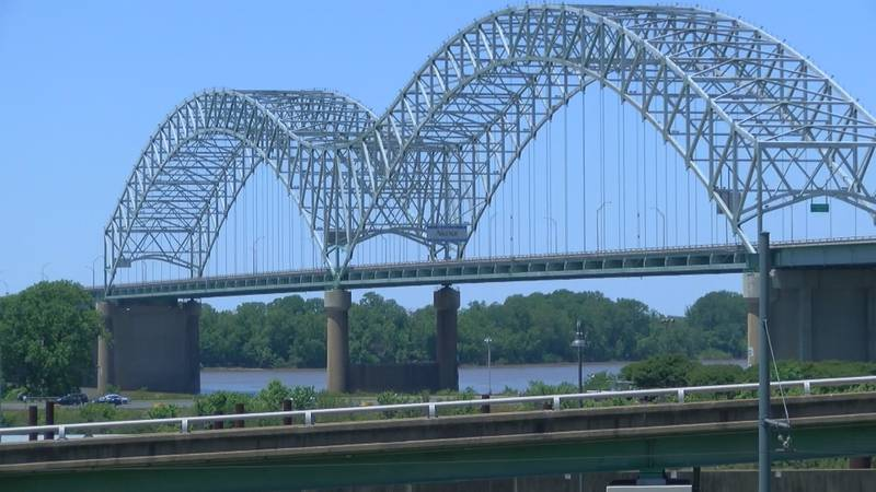 I-40 Bridge connecting Tennessee and Arkansas