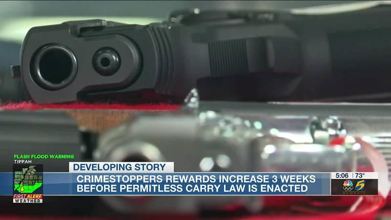 Crimestoppers rewards increase 3 weeks before permitless carry law is enacted