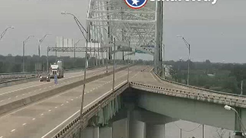The I-40 bridge over the Mississippi River is closed indefinitely after a crack was discovered...