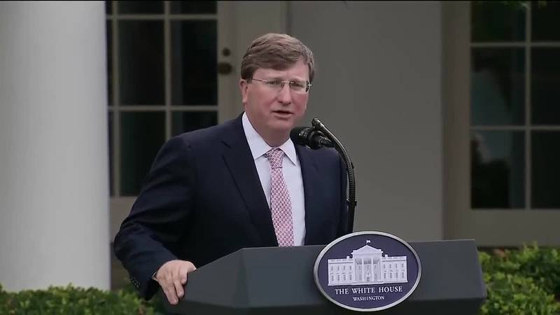 Governor Tate Reeves spoke at the White House news conference Monday thanking President Trump...