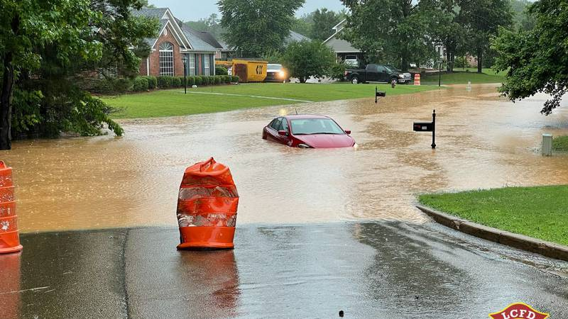 Flash flooding in Lafayette County