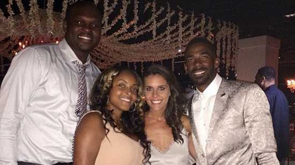 Randolph and his wife posing with the newlyweds. (Photo Source: Zach Randolph, Instagram)