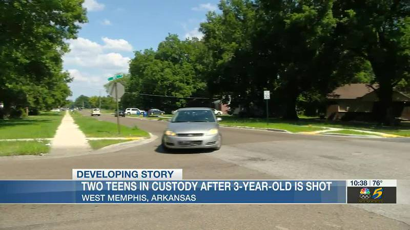 Two teens in custody after 3-year-old shot in West Memphis; third suspect sought