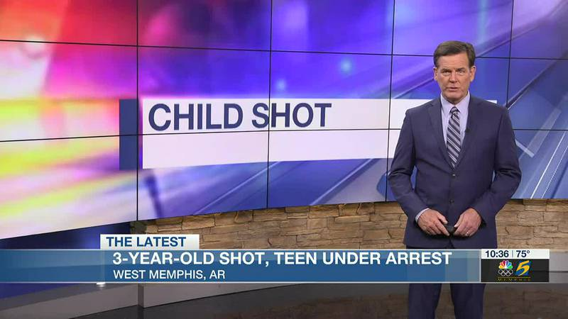 Teen arrested after 3-year-old girl injured in West Memphis shooting