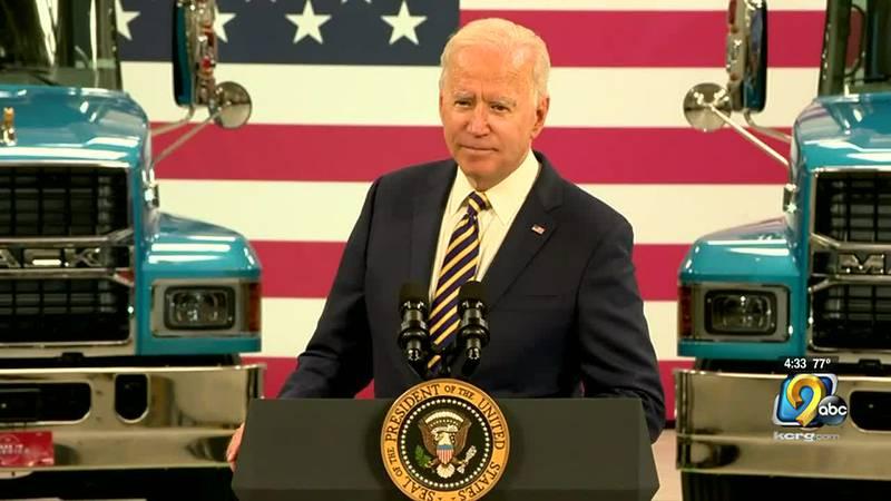 President Joe Biden at a previous press conference.
