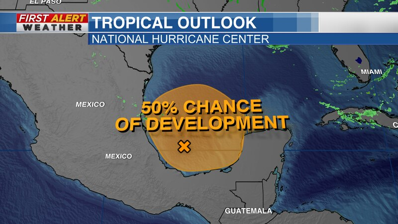 Tropical Outlook from the National Hurricane Center as of 7 AM CT Sunday Morning