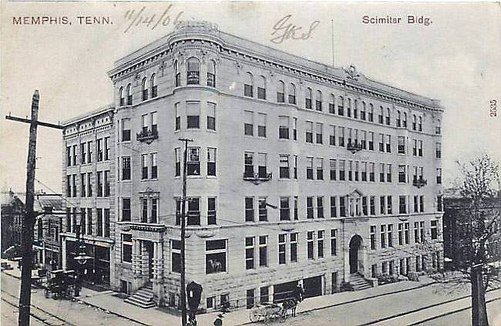 Scimitar Building in 1904 (Source: Memphis Public Library | Memphis & Shelby County Room)
