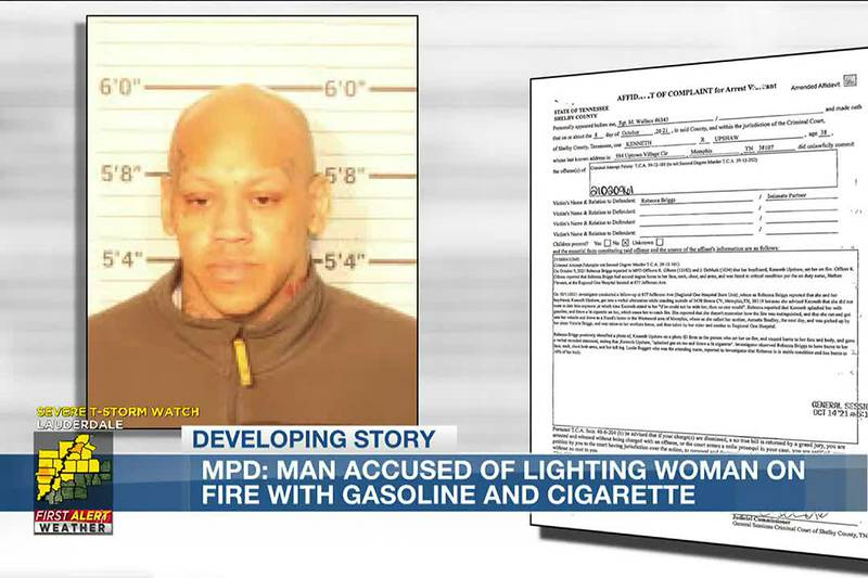 Man charged with setting girlfriend on fire