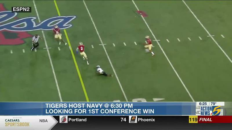 Tigers in need of win against Navy