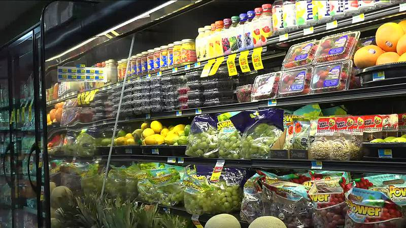 Grocery stores are starting to see empty shelves again