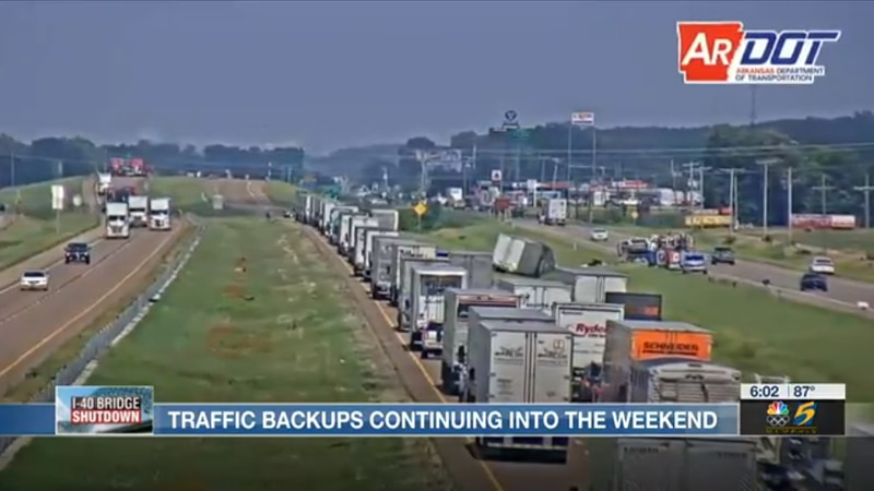 Traffic backups continue