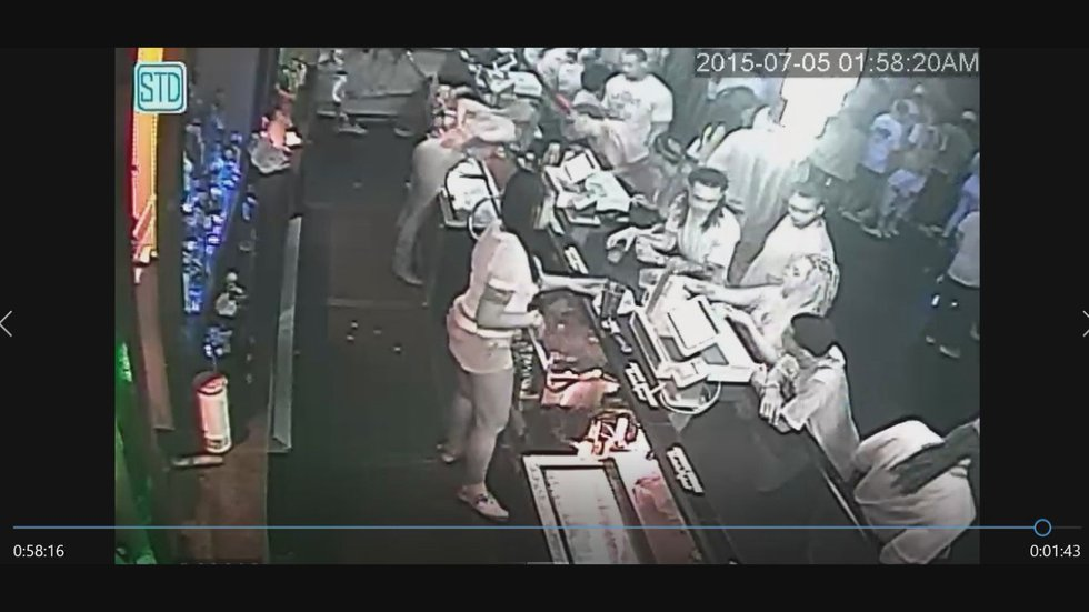 Surveillance video from inside Club Illusions in Gulfport shows Arthur Jones at the bar.