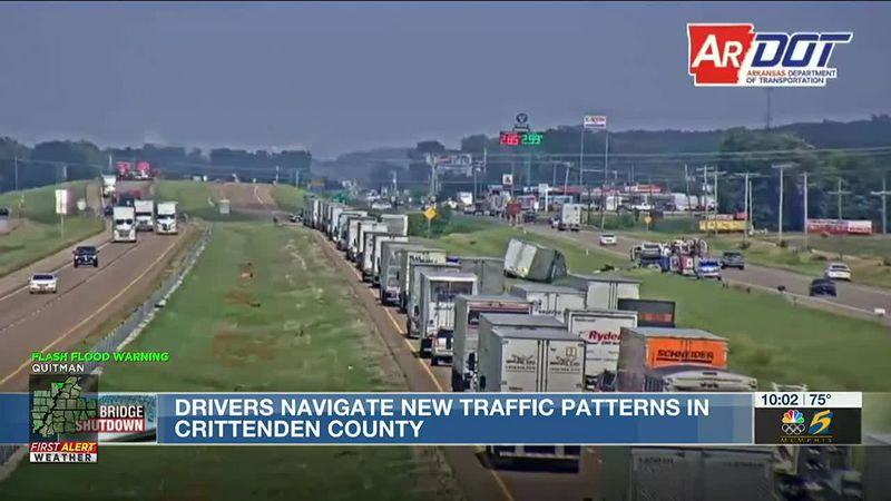 Drivers navigating new traffic patterns in Crittenden County