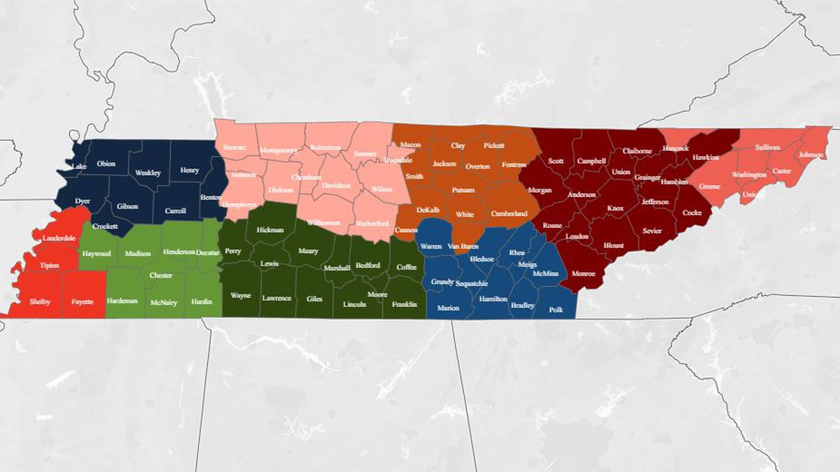 Unemployment claims by region in Tennessee, July 2