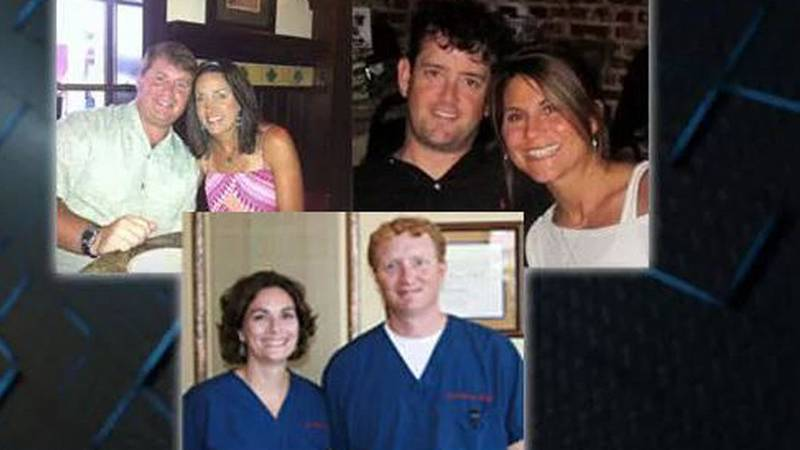 Jason and Lea Farese, Austin and Angie Poole, and Michael and Kim Perry. (Source: Family)