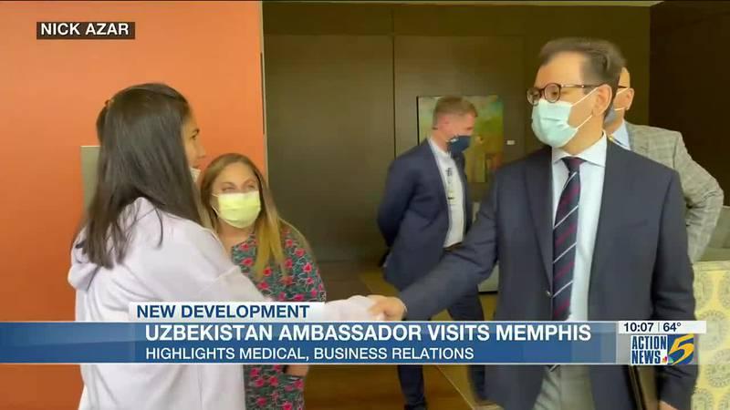Uzbekistan ambassador visits patient