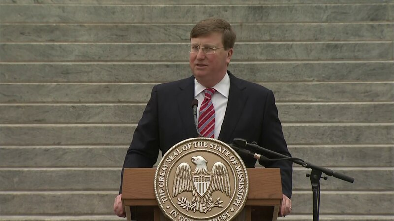 Gov. Tate Reeves during his 2021 State of the State address.