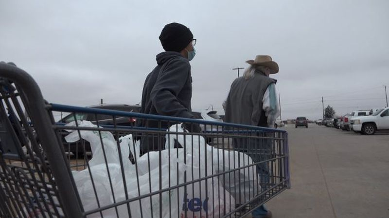 Lubbock grocery stores were packed Friday afternoon, as shoppers braced for potentially...
