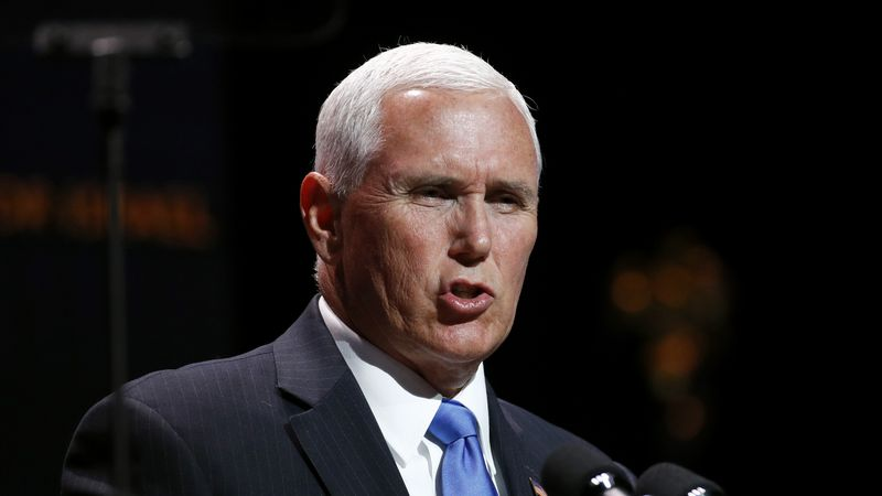 Vice President Mike Pence speaks at the Christians United for Israel's annual summit, Monday,...