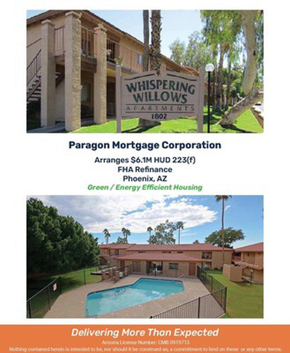 Paragon Mortgage Arranges $6.1M HUD 223(f) FHA Refinance