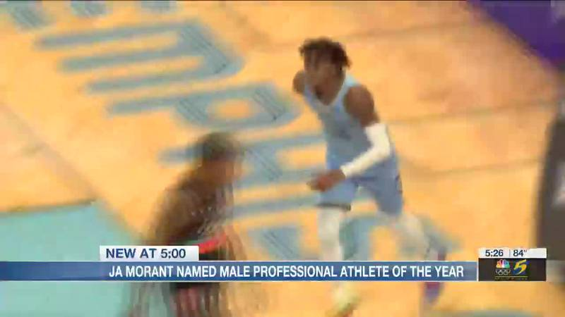 Ja Morant named Male Professional Athlete of the Year