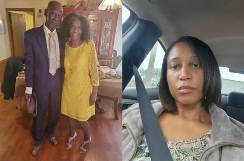 L: Willie Gene and Barbara Harris. R: Ebonique Harris