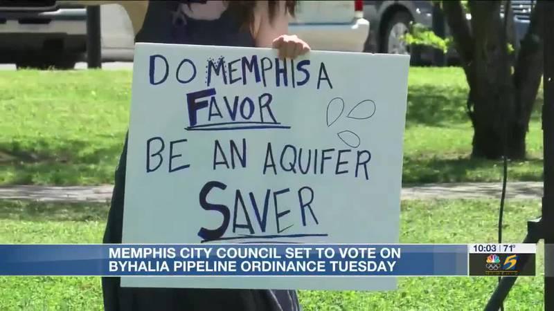 Memphis city council set to vote on Byhalia Pipeline ordinance Tuesday