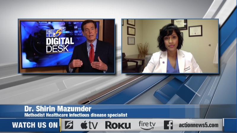 Q&A with Dr. Shirin Mazumder, Methodist Healthcare infectious disease specialist