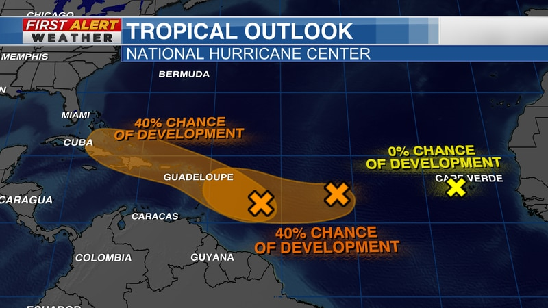 Tropical Outlook from the National Hurricane Center as of 7:30 AM CT Sunday, August 8, 2021
