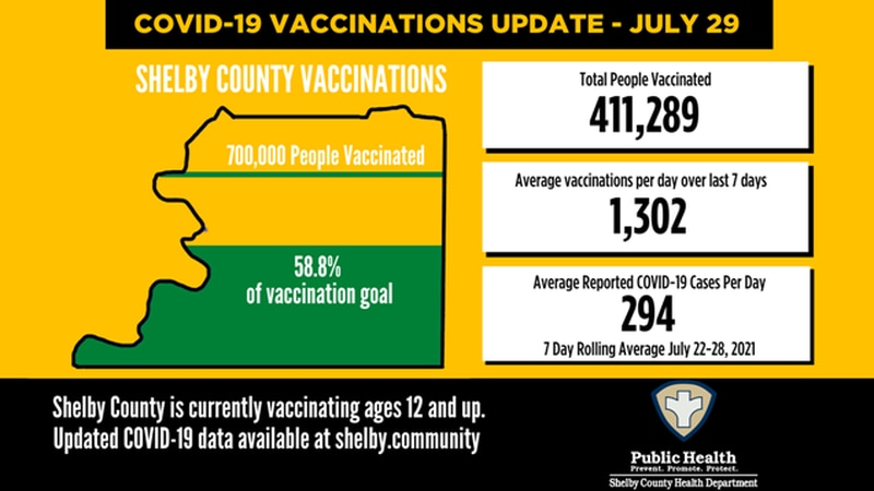 Shelby County COVID-19 numbers  - July 29