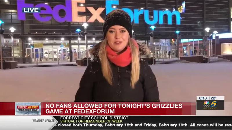 No fans allowed for Grizzlies game at FedExForum