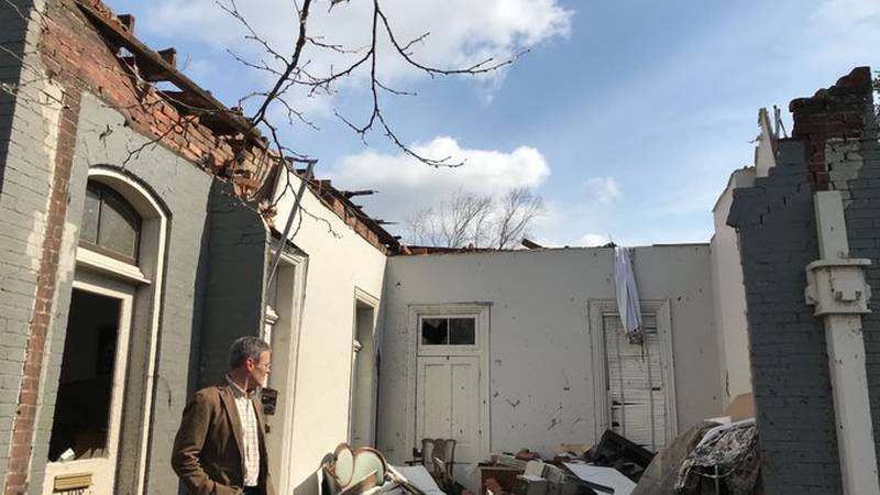Gov. Bill Lee takes a look at storm damage in Nashville
