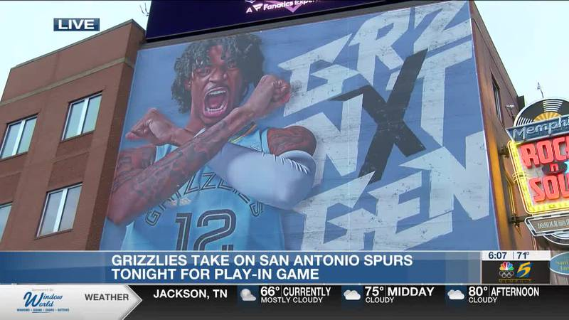 Grizzlies take on San Antonio Spurs tonight for play-in game