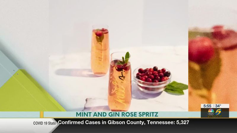 Bluff City Life, Mint and Gin Rose Spritz