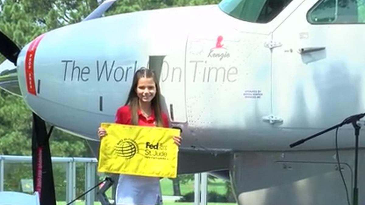FedEx plane dedication for St. Jude patient kicks off World Golf Championship