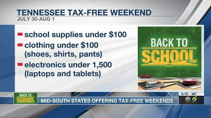 Mid-South states offering tax-free weekends