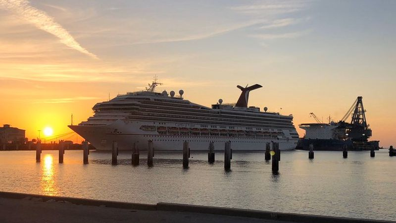 The Carnival Valor arrived at the Port of Gulfport Sunday and is expected to stay around 30 days.