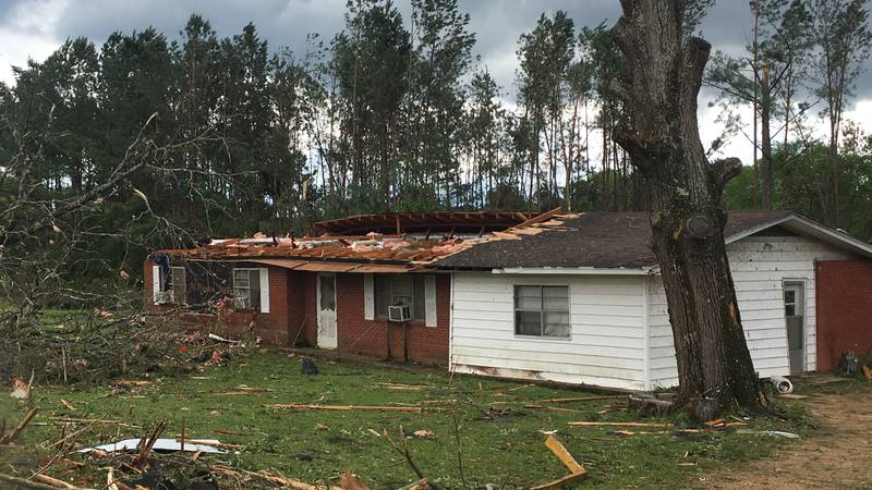 This is one of several homes destroyed by a twister on Dummy Line Road in Morton. Source: WLBT