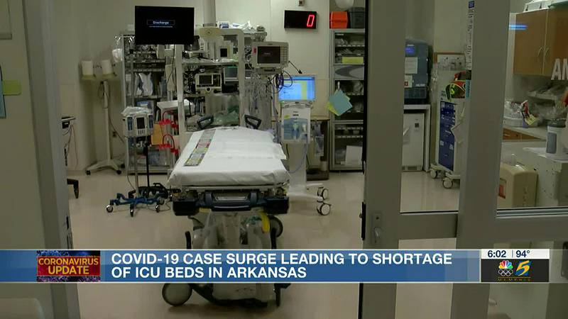 Surge in COVID-19 cases in Arkansas leads to shortage of ICU beds